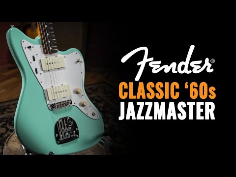Fender Classic '60s Jazzmaster Lacquer Surf Green Guitar   CME Gear Demo