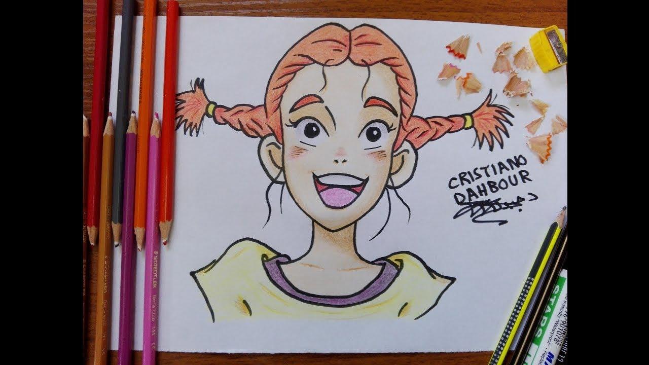 رسم جودي أبوت من كرتون صاحب الظل الطويل تعلم رسم الكرتون القديم