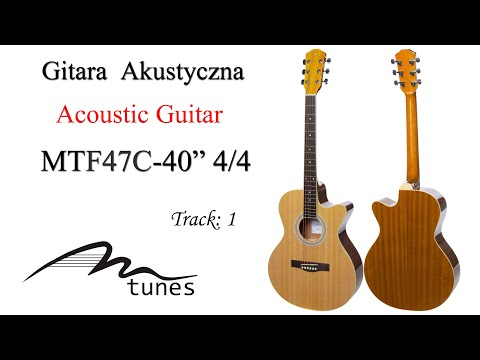 "Acoustic guitar 4/4 40"" M-tunes MTF47C video"