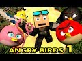 ANGRY BIRDS IN MINECRAFT! (official) Minecraft Animation Game Challenge