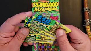 MONDAY MAYHEM BACK TO BACK HANGERS! $38 SESSION NY LOTTERY INSTANT WIN SCRATCH OFF MAYHEM TICKETS.