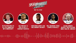 SPEAK FOR YOURSELF Audio Podcast (7.16.19) with Marcellus Wiley, Jason Whitlock | SPEAK FOR YOURSELF