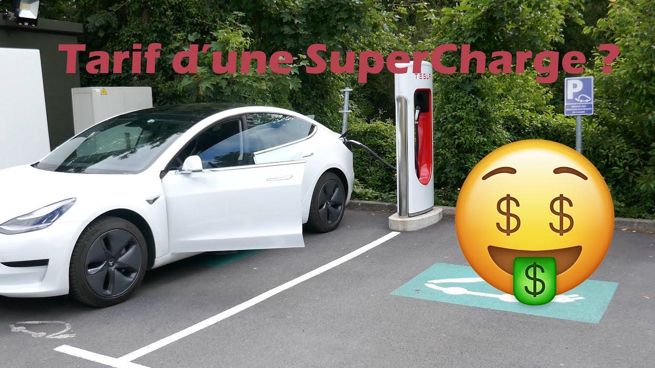 Tarif d'une supercharge (SuC) en Tesla Model 3 SR+