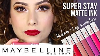 Reseña + Lip Swatches MAYBELLINE SUPER STAY MATTE INK