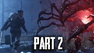FADE TO SILENCE Gameplay Walkthrough Part 2 - BUILDING AND SAVING THE FIRST SURVIVOR