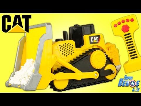 Caterpillar Bulldozer CAT Construction Vehicle Set Big Builder Engin de Chantier Jouet Toy Review