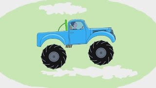 Мультик - Раскраска. Учим Цвета - Монстр-трак / Monster truck - Развивающий мультик про машинки