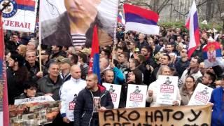 ЗАВЕТНИЦИ - Долазак Заветника на АНТИ-НАТО скуп 20.02.2016