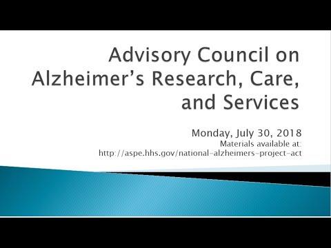 Alzheimer's Council Meeting | July 2018 | Part 2 Of 5