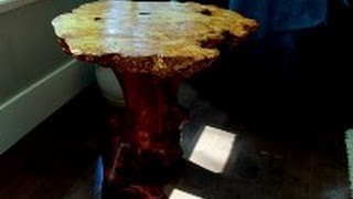 The Making of a Yellow Cedar Burl table