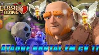 Clash of Clans ataque brutal com lançadores e gigantes!! / Brutal attack with bowlers and giants !!!