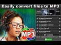Convert the audio files in MP3 format with