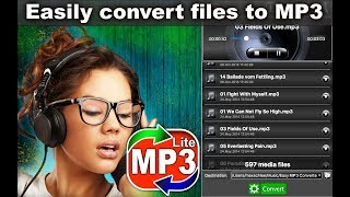 Convert the audio files in MP3 format with quot Easy MP3 Converter quot App