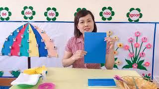 Mầm non Quảng Nghĩa - Hướng dẫn cách làm quạt giấy