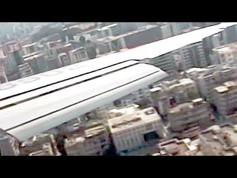 香港・啓徳空港着陸 1993年 Hong Kong Kai Tak Airport Landing 1993