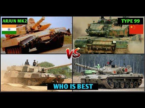 Indian Defence News,Arjun vs Chinese Type 99 Comparison in Hindi,india vs china,Arjun mk2 vs type 99