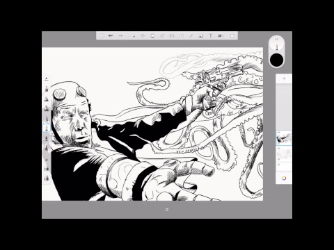 Morning Warm Up with J. Andrew World Drawing Hellboy part 2
