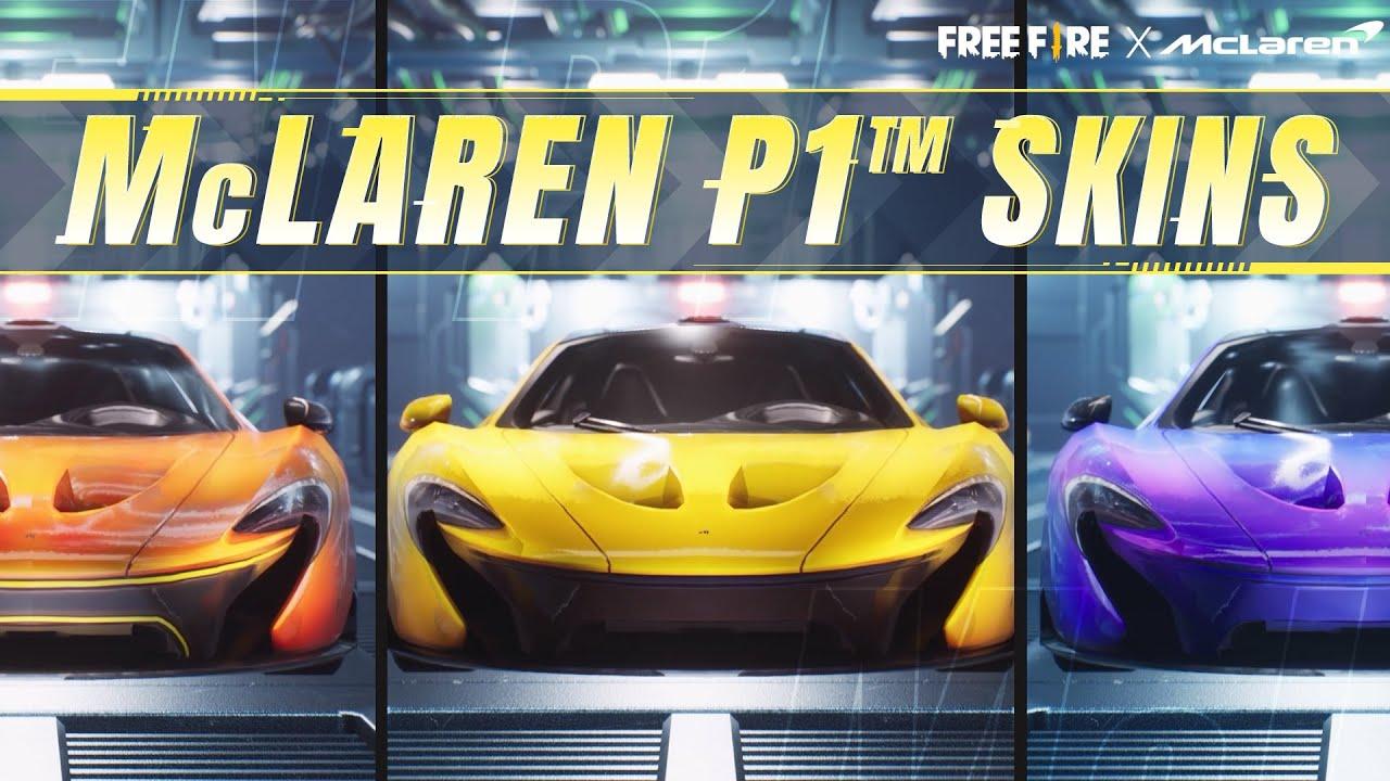 McLaren P1 Car Skins Are Coming! | Free Fire x McLaren