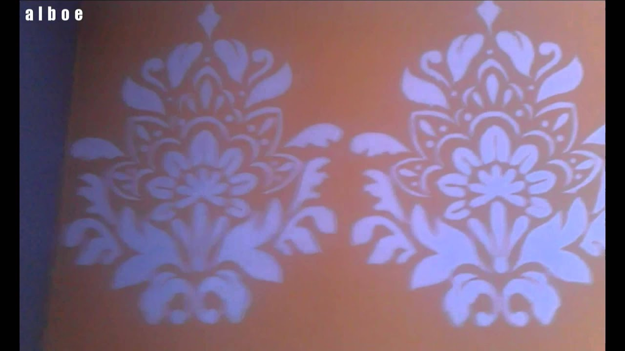 Livingroom makeover part1 how to make a giant wall stencil youtube amipublicfo Gallery