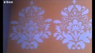 Livingroom makeover part1: How to make a giant wall stencil