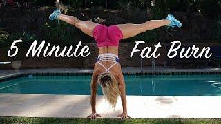 5 Minute Fat Burning Workout #102 - Super Intense!!