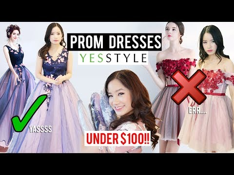 Try on: Prom Dresses under $100 from YESSTYLE | Was it worth it?