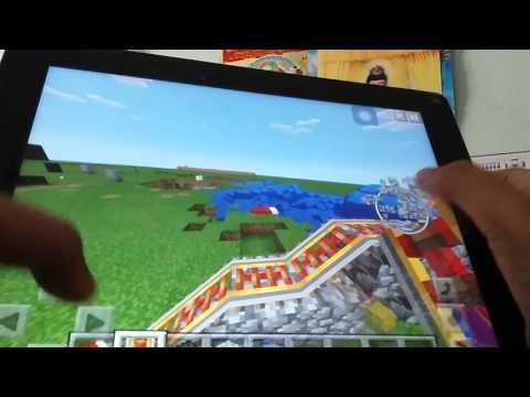 Cong vien xe lua duoi nuoc trong minecraft pe