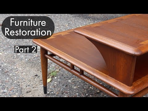mid-century-furniture-restoration-|-part-two-|-lane-acclaim-step-table-refinish-and-repair