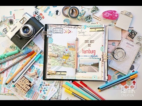 Traveler's Notebook Journal Process with Cocoa Daisy #1