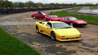Lamborghini's line up at Auto Italia 2012 - Brooklands