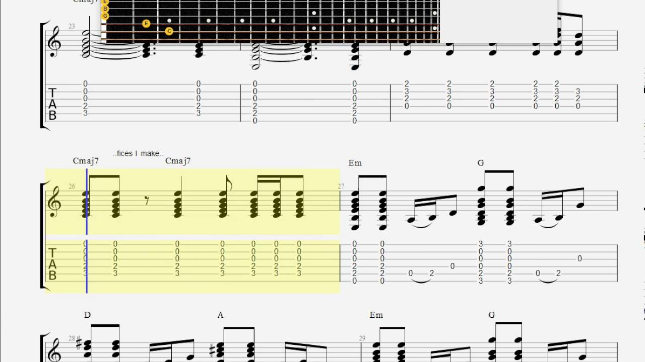Chapman Tracy For My Lover Guitar Tab Youtube