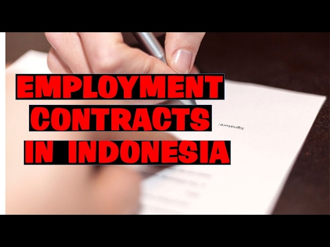 0821-1234-1235 EMPLOYMENT CONTRACTS IN INDONESIA