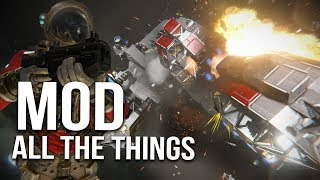 Video Space Engineers Sunday Mod All The Things -  Back In Space #39 download MP3, 3GP, MP4, WEBM, AVI, FLV Agustus 2018
