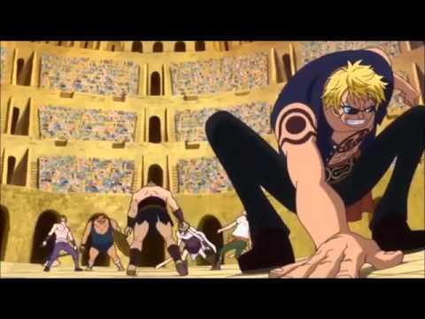 One Piece Corrida Colosseum Block B fight