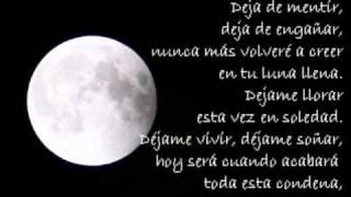 Luna Llena - Saratoga (letra)