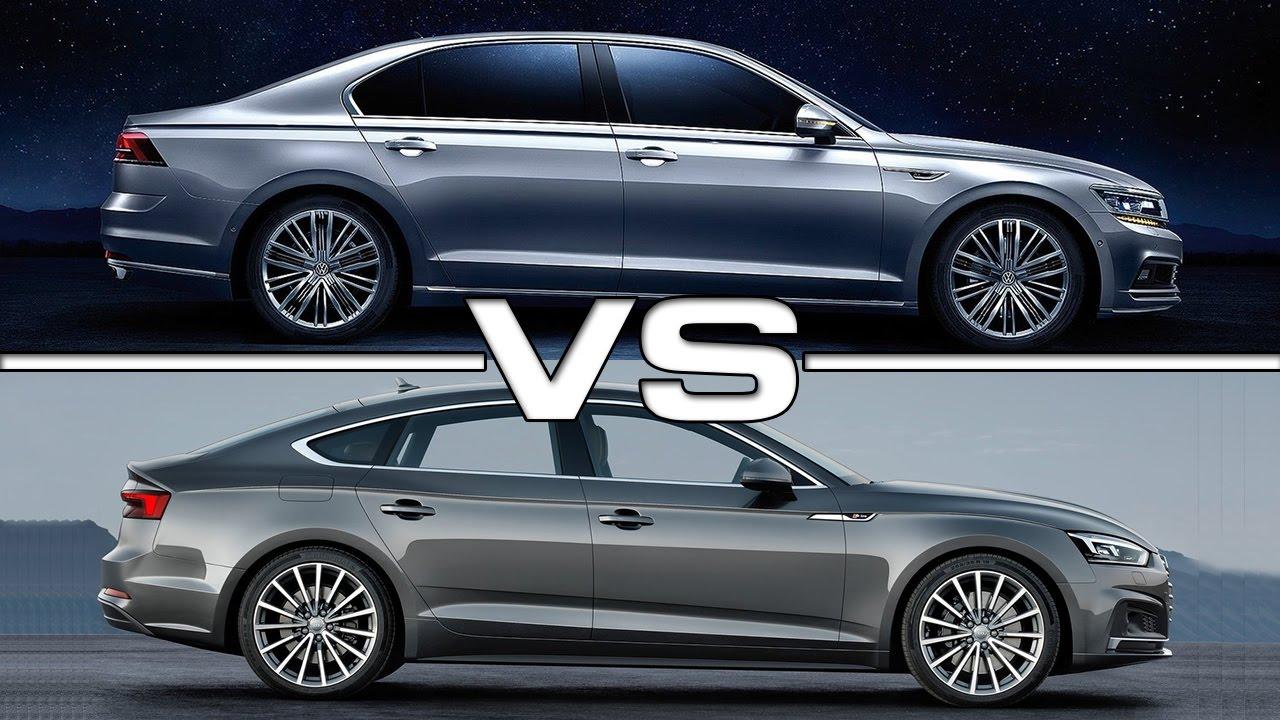 2018 Volkswagen Phideon vs 2017 Audi A5 Sportback - YouTube