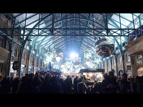 Covent Garden London Christmas Lights Switch On Party 2017