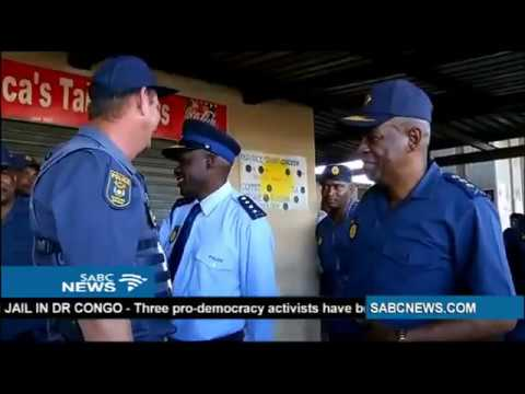 SAPS Comissioner Gen Sitole visits Bellville Taxi Rank
