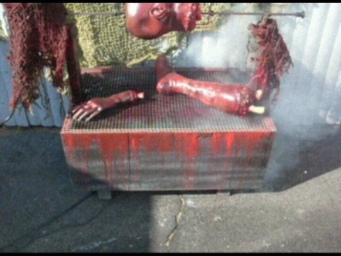 Animated Body Part Barbeque Grill Halloween Prop Youtube