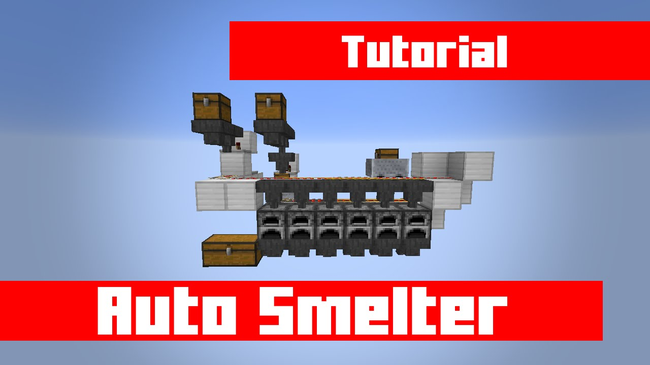 how to build a cheap easy auto smelter with even distribution in minecraft youtube. Black Bedroom Furniture Sets. Home Design Ideas