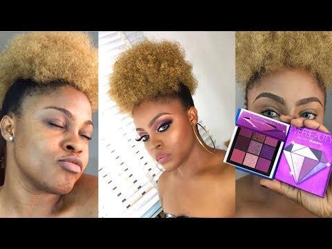 BARE TO GLAM MAKEUP TUTORIAL   huda beauty mini eyeshadow look alike😱😱  SONIA OKRI
