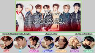 "Got7 (갓세븐) ""양심없이 (don't care)"" [color coded] [rom