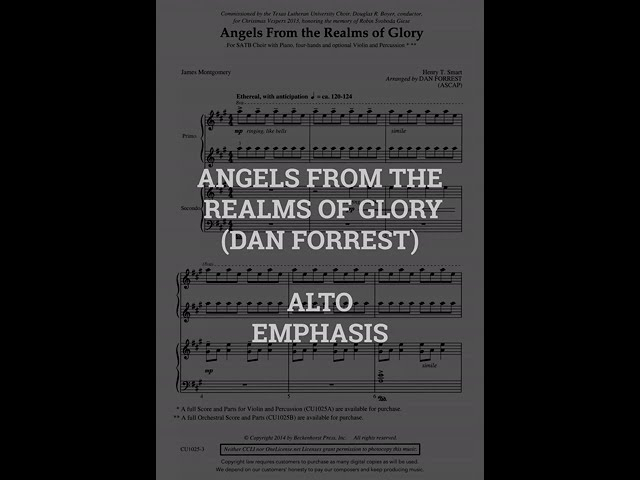 Angels From The Realms of Glory   ALTO
