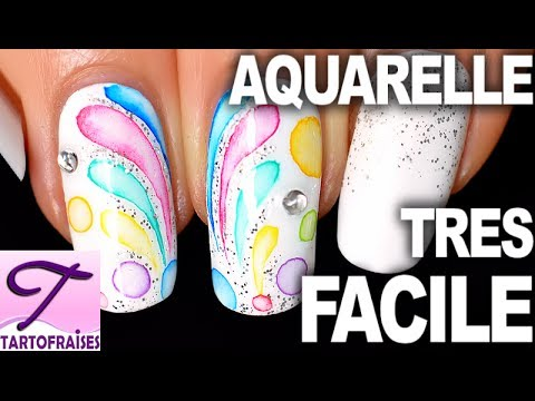 tuto d butant nail art aquarelle tr s facile ongles de f te pastel youtube. Black Bedroom Furniture Sets. Home Design Ideas