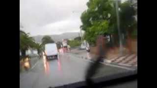 Inundaciones en Alhaurin el Grande [3]: Vuelta completa por el pueblo después de una fuerte tormenta