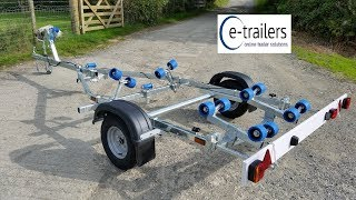 Gambar cover Extreme EXT 750 Roller Boat Trailer With Rear Swing Cradle