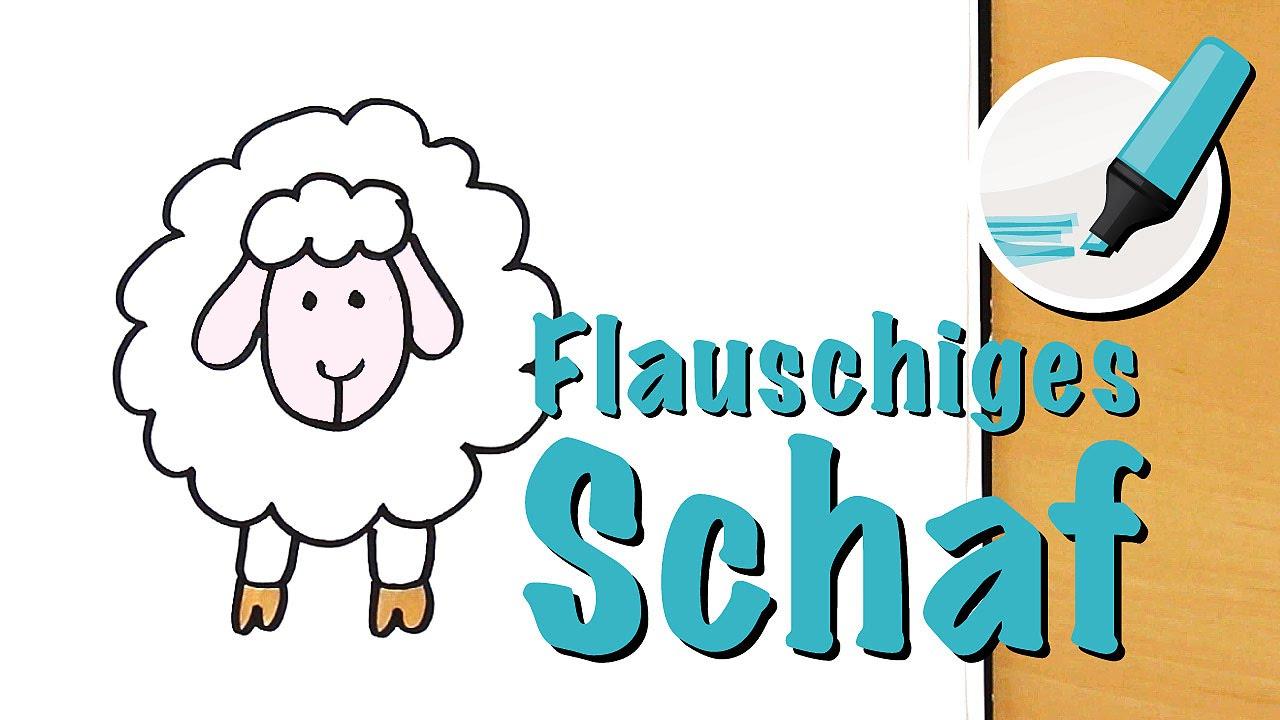 Schaf zeichnen lernen - Der Medizinmann unter den Tieren - How to draw a  Sheep (Cartoon)