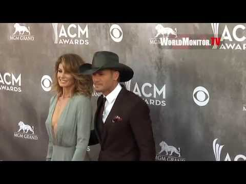 Faith Hill, Tim McGraw arrive at 49th Annual Academy Of Country Music Awards Redcarpet