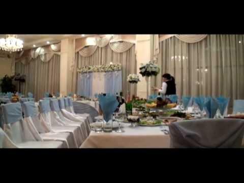украшение зала в голубом цвете.avi