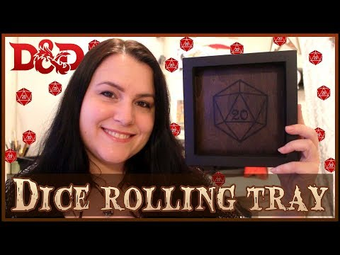 How to make a D&D DICE ROLLING TRAY, with a printed image on wood